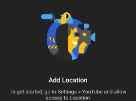 YouTube Location